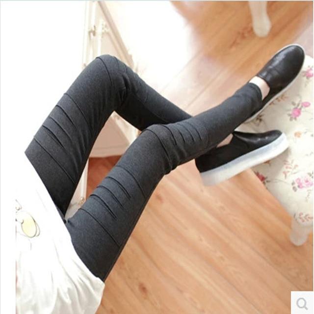 Korean maternity clothing fashion leggings elastic high waist maternity pants autumn&winter maternity trousers roupa maternidade