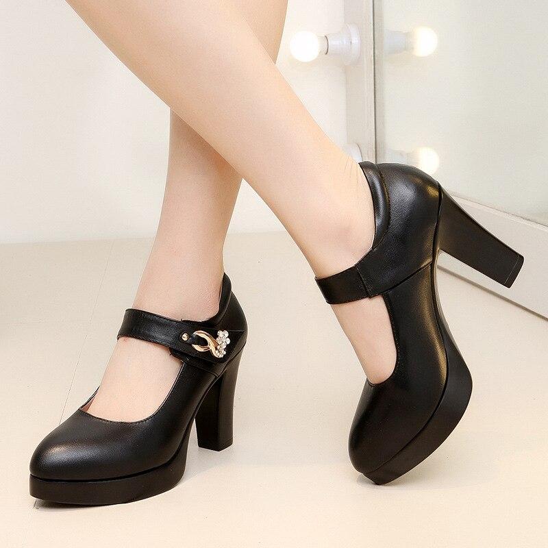 Grande Femmes Noir Escarpins Chaussures gris À Taille blanc Printemps Blanc De Épais 44 Jane Talons Noir Mary Rose Dames Hauts Mariage pZnqvpAr1