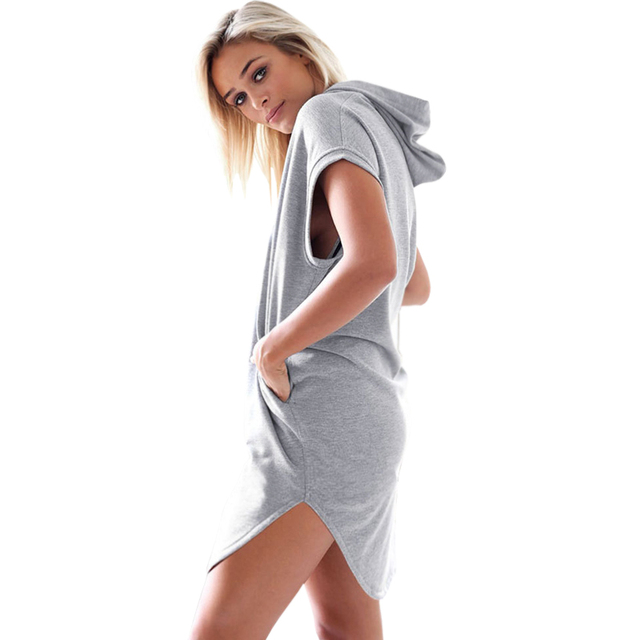 Women's New Short Sleeves Hooded T-Shirt