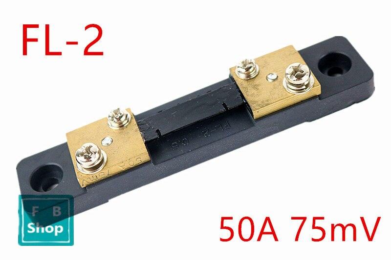FL-2 DC 75mV 50A Shunt Resistor For Meter Amp Analog Panel Ammeter Volt Meter K