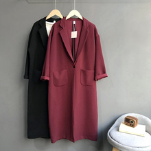 2019 Boyfriend Style Women Long Coat Casaco Feminino Women Spring Trenc