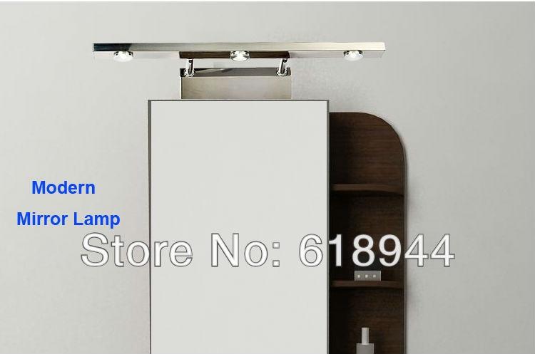 3 ヘッド led ミラー ライト 、 ステンレス鋼led ウォール マウント現代浴室ミラー壁アート ランプ照明、 Led用ホーム デザイン