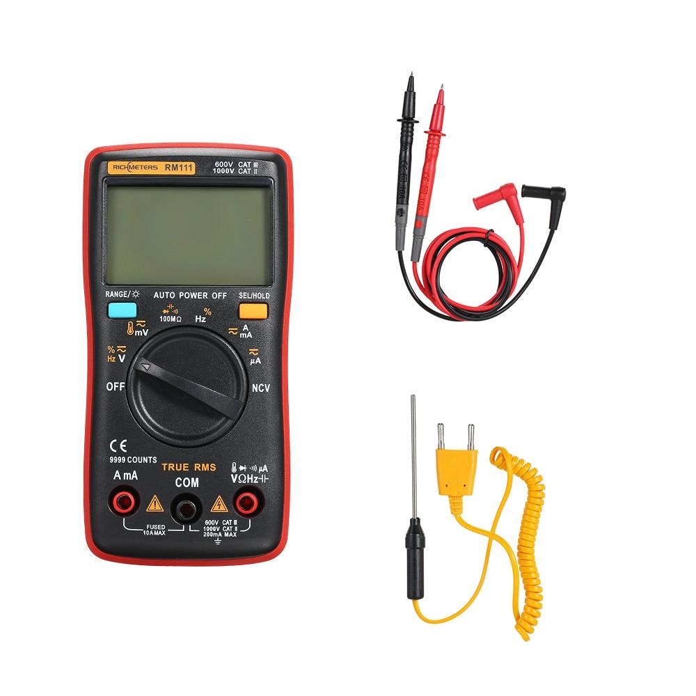RM111/RM100 multimetro analogico NCV True-RMS Digital Multimeter capacitor tester Temperature Back light AC/DC voltmeter Ammeter