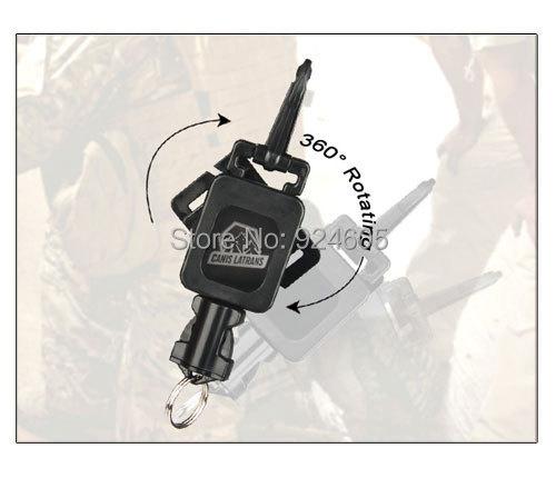 Nieuwe Aankomst Tactische Militaire Gear Retractor Rvs Vier Kleur Voor Tactische Rugzak Airsoft Gun HS33-0081
