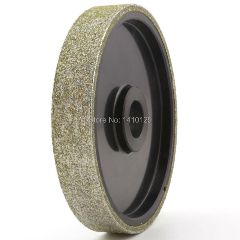6 inch Grit 46 Very Coarse Lapidary Diamond Coated Cabbing Grinding Wheel Electroplated With Bushing Arbor 1 3/4 5/8 1/2 6 inch lapidary concave arc diamond coated grinding wheel grind spherical 6 mm ilovetool