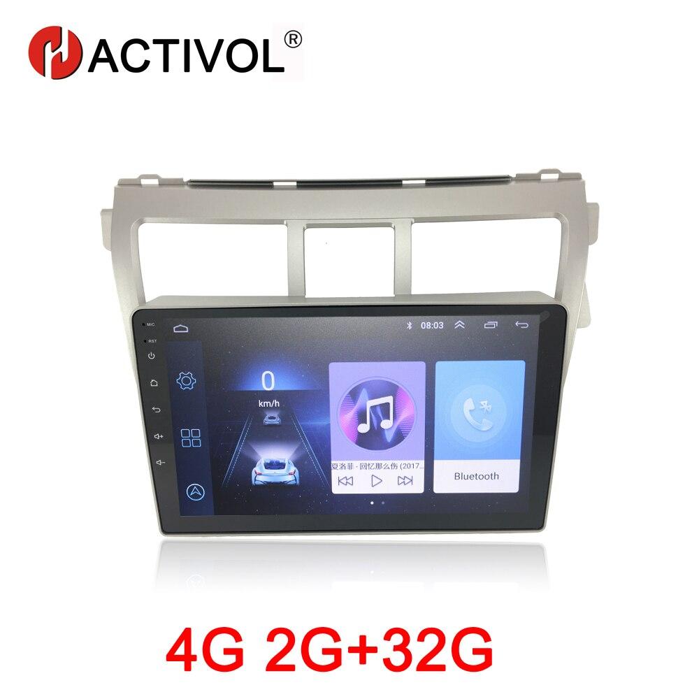 HACTIVOL 2G+32G Android 8.1 Car Radio for Toyota RAV4 2009 2012 car dvd player gps navigation car accessory 4G multimedia player