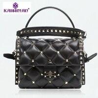 Оригинальный заказ качество женские Модные сумки бренда роскошные модные заклепки натуральная кожа сумка клатч сумка Пользовательские за