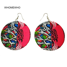 Wood Africa Traditional Painting Totem Tribal Vintage Drop Earrings Fashion Wooden African Bohemia Afro Ear Jewelry Accessories