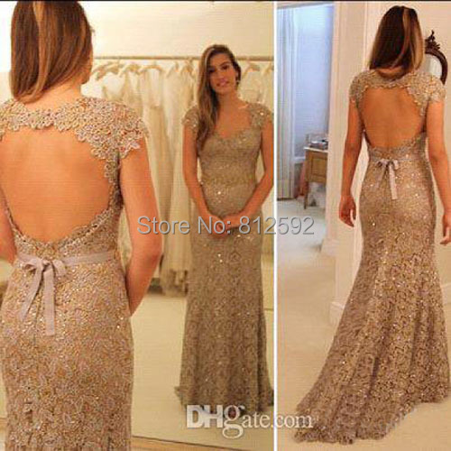 Collection Gold Lace Evening Dresses Pictures - Hausse