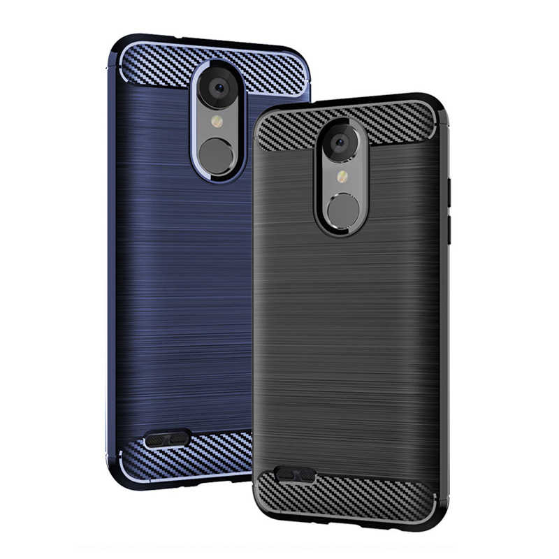 Armor Case For LG Tribute Empire Carbon Fiber Soft Silicone Phone Cover For LG Dynasty K40 K12+ X4 2019 Q60 K50 Stylo5 K8S Funda