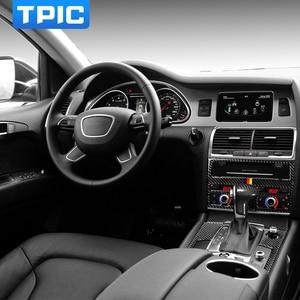 Image 2 - TPIC Auto Innen Dekoration Carbon Faser Auto Fenster Switch Control Panel Auto Aufkleber Auto Styling Für Audi Q7 2008 2015