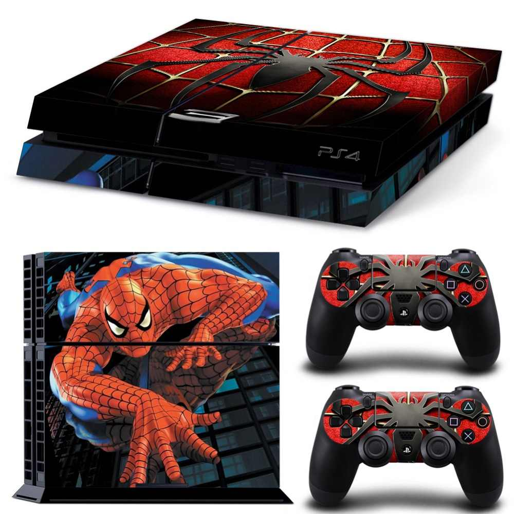 Spiderman For PS4 Vinyl Skin For Sony Playstation 4 Controle Console Cover Sticker And 2 Controller Gamepad Manttee Decal
