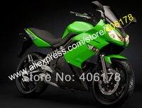 Лидер продаж, ниндзя 650R обтекатель для KAWASAKI ER 6f 09 10 11 650 р ER6f ER 6f 2009 2010 2011 Зеленый Черный ABS пластик мото обтекатель