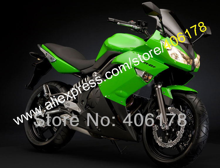 Hot Sales,Ninja 650R Fairing for KAWASAKI ER-6f 09 10 11 650 R ER6f ER 6f 2009 2010 2011 Green Black ABS Plastic Moto fairing