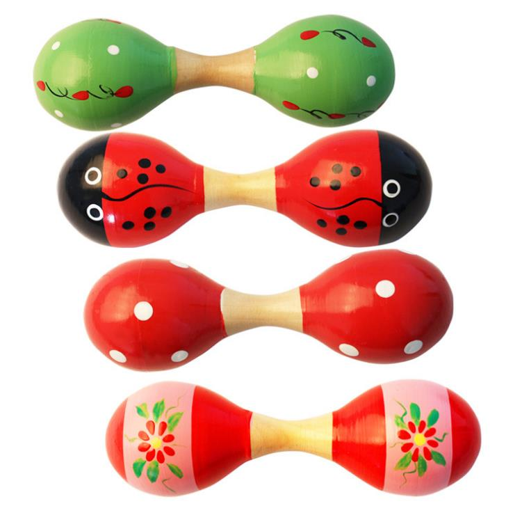 Musical Instruments Mini Wooden Ball Children Toys Percussion Musical Instruments Sand Hammer Levert Baby Rattles Toy