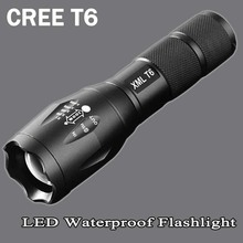 cree xm-t6 LED Flashlight 8200lumen zoomable led torch for 18650/AAA black Waterproof