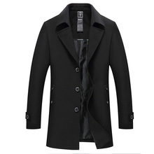 New Mens Trench Coat Autumn Spring Brand Fashion Slim Fat thin Busines