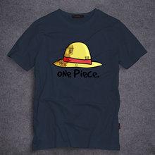 Anime One Piece Luffy Sombrero de Paja de La Camiseta Hombres de La Moda de Las Mujeres ropa de Algodón de Manga Corta Camiseta Luffy Cosplay camiseta Top