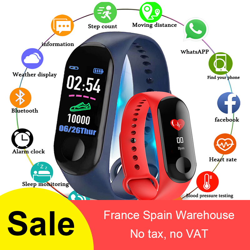 M3 Smart Bracelet Wristband Waterproof Touch Screen Bluetooth Control Fitness Pedometer For Iphone With Heart Rate Function