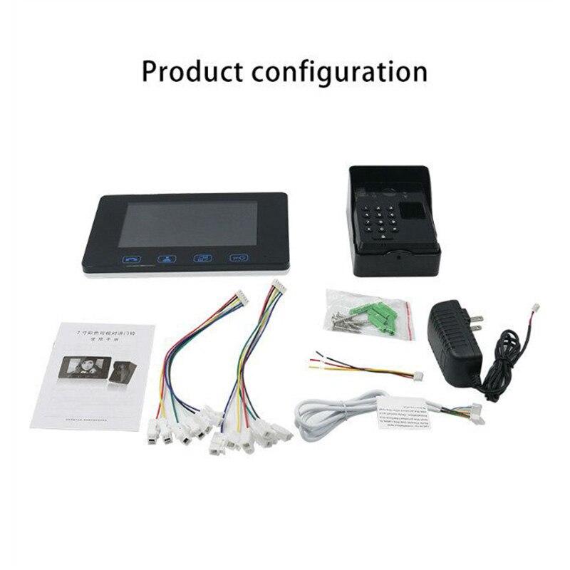 wired fingerprint video doorphone4