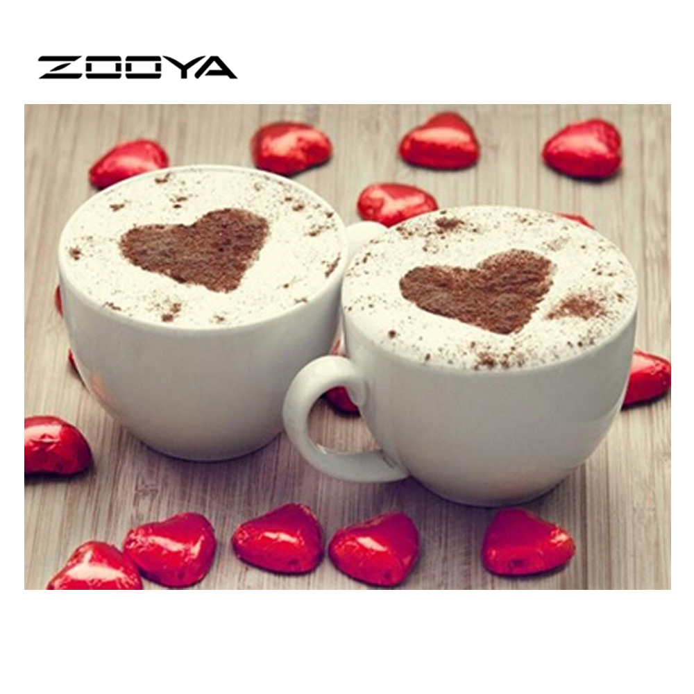 ZOOYA 3D Diamond Embroidery Սուրճի բաժակ - Արվեստ, արհեստ և կարի