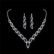 Romad Women Rhinestone Wedding Necklace Earring Jewelry Set Austrian Crystal Bridal Jewelry Sets