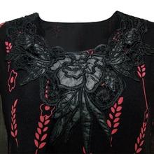 Long Sleeve Vintage Floral Print Blouse