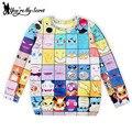 [You're My Secret] 2016 New Arrival cartoon moleton Spring women sweatshirt 3D Pocket Monster printed hoodies WJW1084 Wholesale
