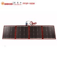 Dokio 160W 18V Black Solar Panels only China Foldable+12/24V Volt Controller portable 160Watt Panels Solar panel battery charge