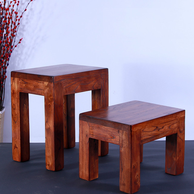 stool chair in chinese jazzy power troubleshooting pure solid wood change shoes rectangular small bench home creative dining