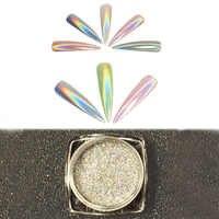 Holographic Powder Crystal Nail Art Tip Builder Transparent Powder Crystal Liquid Gel Polish Dehydrator Stone DIY Decorations