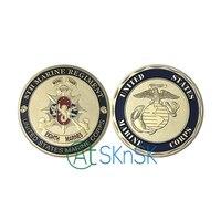 Commercio all'ingrosso di Buona smalto placcato oro monete da collezione ° Reggimento Marine medaglie artigianato Unite States Marine Corps sfida monete