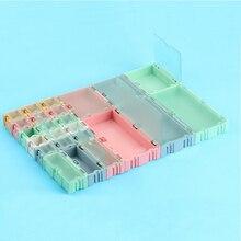 1 компл. = 24 шт. SMD SMT электронный компонент ИС мини коробка для хранения и практичные ювелирные изделия хранения Чехол Ассорти Комплект