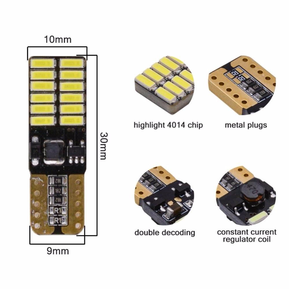 Katur 10x Χωρίς πολικότητα T10 800 Lumens W5W LED - Φώτα αυτοκινήτων - Φωτογραφία 2