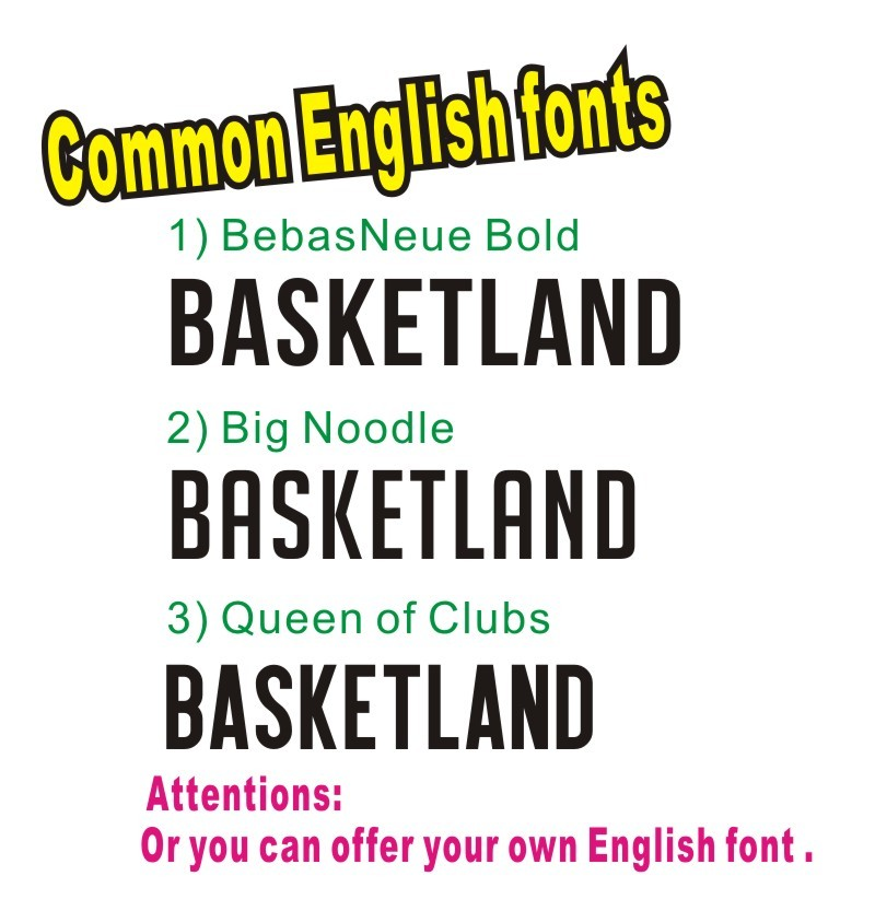 common english fonts()
