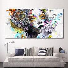 Современный холст с принтом девушки цветами настенные картины