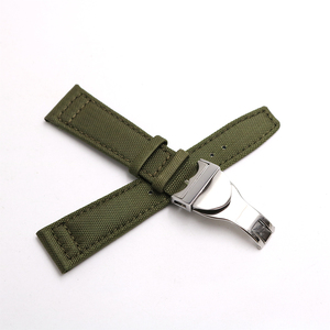 Image 3 - Rolamy Watch Band 20 21 22mm  Nylon Fabric Leather For Tudor Omega IWC Rolex Replacement Wrist  Loops Strap Deployment Clasp