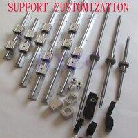 SBR 16 linear guide Rail 6 set SBR16 300/700/1100mm + ballscrew set SFU1605 350/750/1150mm + BK/BF12 CNC parts