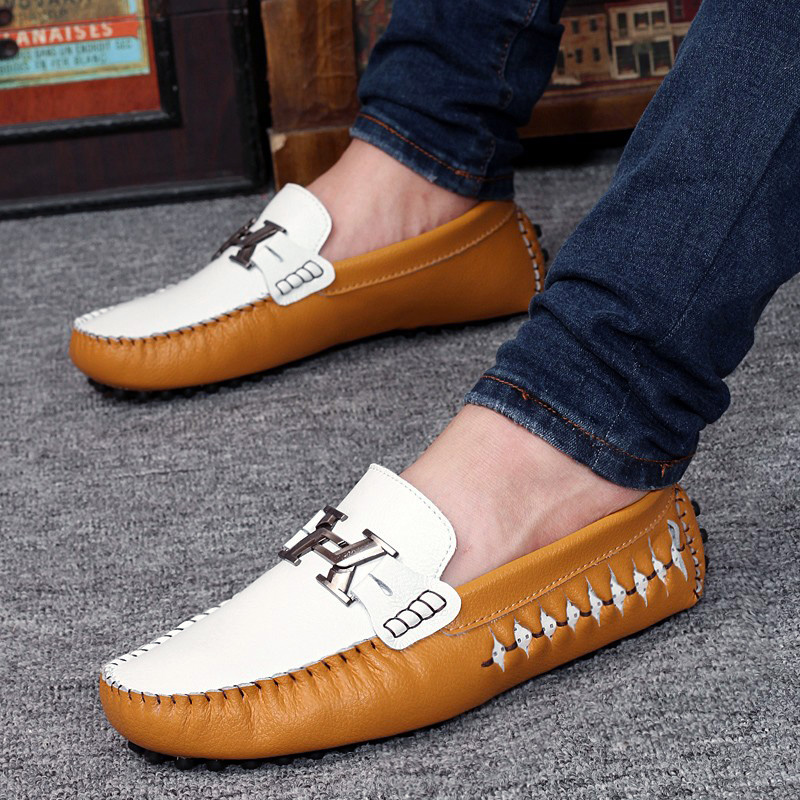 049e86032b4c HEINRICH Leather Loafer Shoes Men Fashion Brand Casual Shoes For Men  Breathable Boat Shoes Slip-On Men Shoes Mocassim Masculino