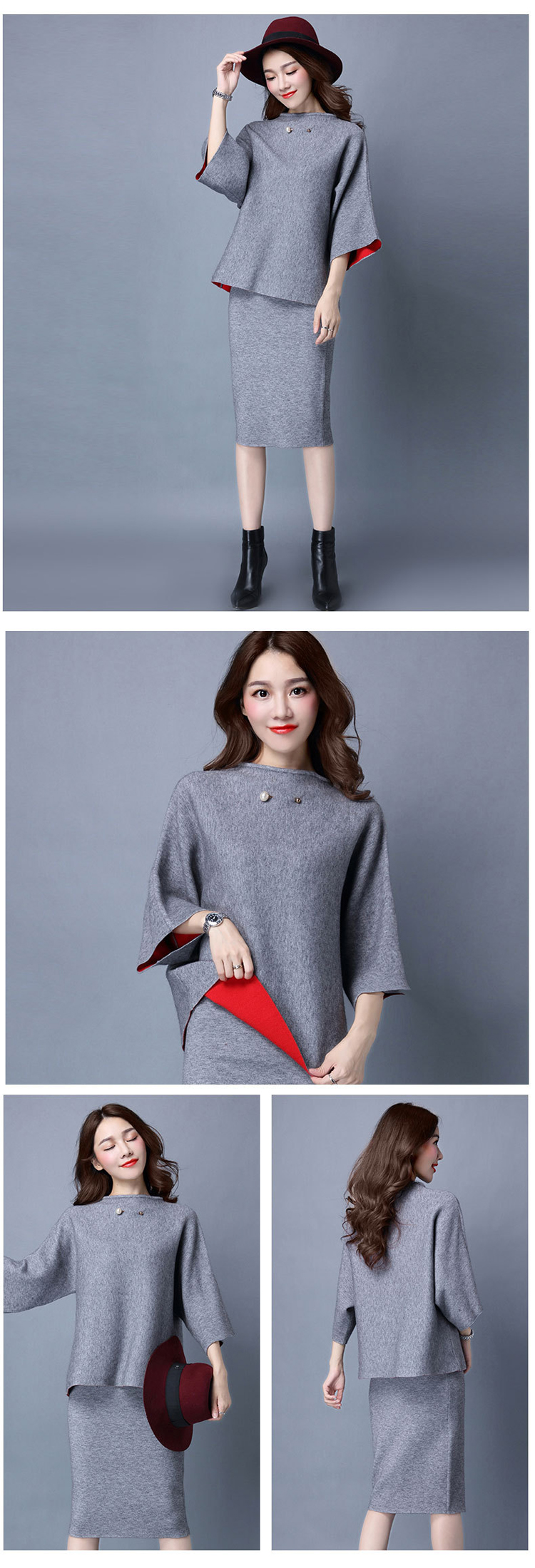 Female Winter Pullover Sweat Suits Women Cashmere Sweater Women Suits Clothing Sets Women Sweatsuit Conjuntos Femininos 005
