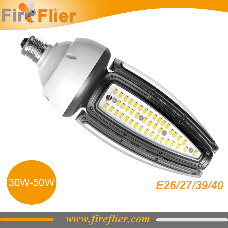 6pcs/lot E27 Waterproof Led Bulb 30w 40w 50w Outdoor Lamp E39 E40 Spotlight 10w 20w Lampada To Replace Metal HPS Lamp 100w Ip65