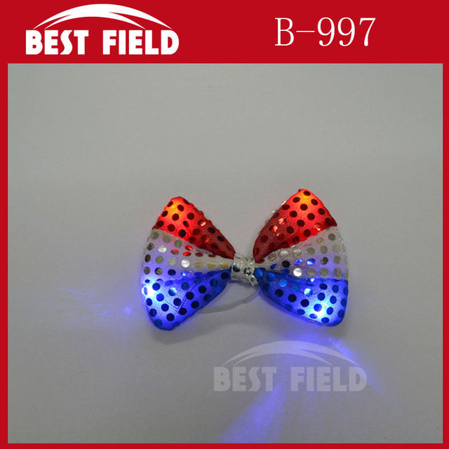 657cfed08c8 Free Shipping 240piece led bow tie USA American Flag Big Bowtie Red White  Stars-and