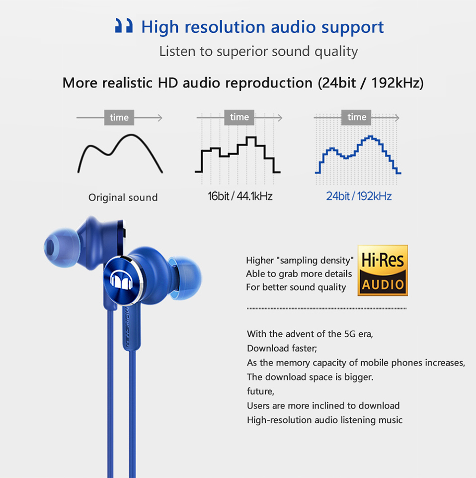 original huawei honor monster 2 earphone am17 3 5mm in-ear earbud with  microphone pure