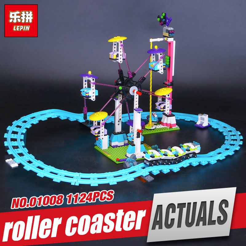 цена на LEPIN 01008 New Amusement Park Coaster Educational Building Kits Girl Blocks Bricks Toys Compatible for girl kids' Gift  4113