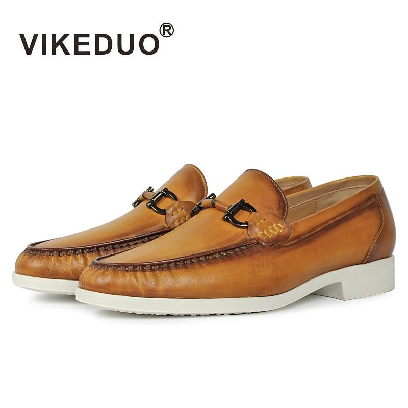 Vikeduo дизайнер 2018 ручной работы ретро моды случайные бренд свадьба танец мужской обуви из натуральной кожи мужские мокасины туфли