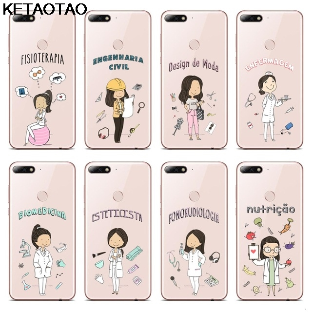 Ketaotao Doctors Nurse Teacher Career Phone Cases For Iphone 5s 6s 7 8 X Plus Xr Xs Max Case Crystal Clear Soft Tpu Cover Cases Phone Bumper