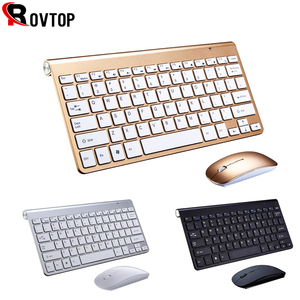 2.4G Keyboard Mouse Combo Set Multimedia Wireless Keyboard and Mouse For Notebook Laptop Mac Desktop PC TV Office Supplies(China)