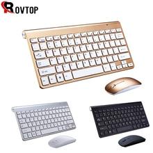 2,4G Tastatur Maus Combo Set Multimedia Drahtlose Tastatur und Maus Für Notebook Laptop Mac Desktop PC TV Büro Liefert