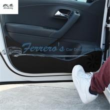 4 шт./лот, автомобильные наклейки, искусственная кожа, защита от ударов, украшение для 2011- Volkswagen VW POLO