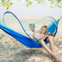 Outdoor Leisure Camping Mosquito Net Hammock Comfortable Soft Double Furniture Temporary Bed Super Light Parachute Anti fall New